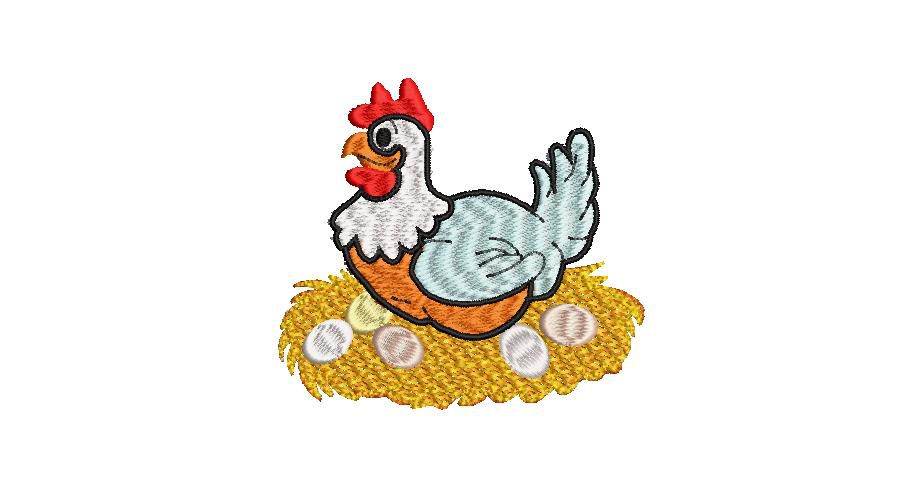 BRODERIE PETITE POULE