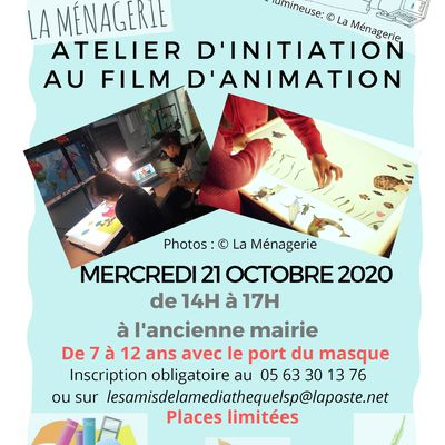 ATELIER  D'INITIATION  AU  FILM  D'ANIMATION