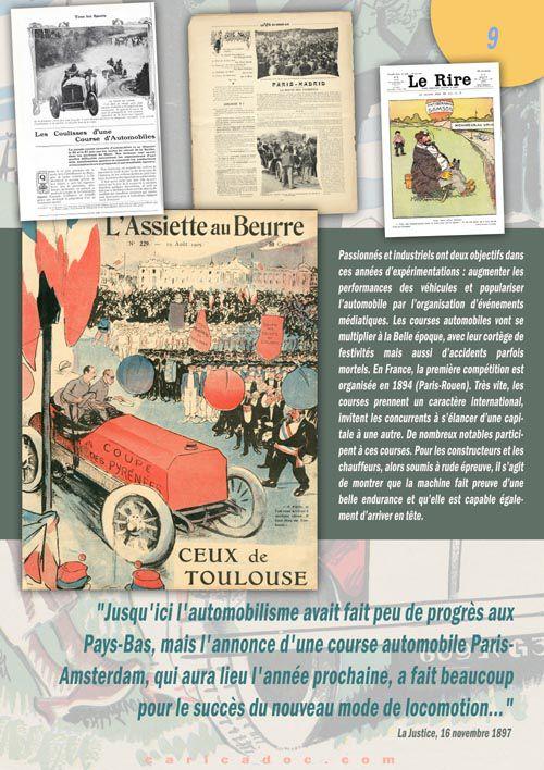 La Belle Epoque de l'automobile : exposition itinérante à louer / imprimer