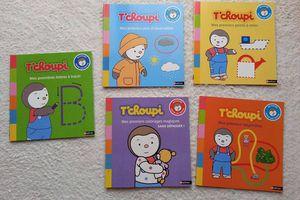 """T'choupi 5 livres """"activités pour les petits"""" - Nathan"""