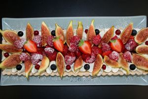 Tarte aux figues et fruits rouges
