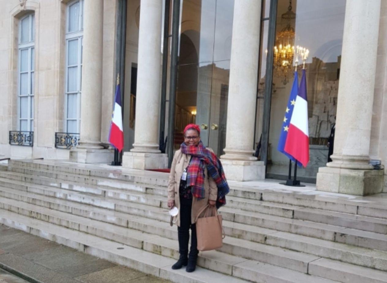 Josely Bonnet Dorothée, secrétaire du CM98, mercredi 3 février à l'Elysée
