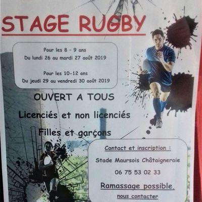 Stage de rugby à Maurs