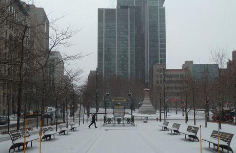 Montréal, la bouche de métro Square Victoria, d'Hector Guimard