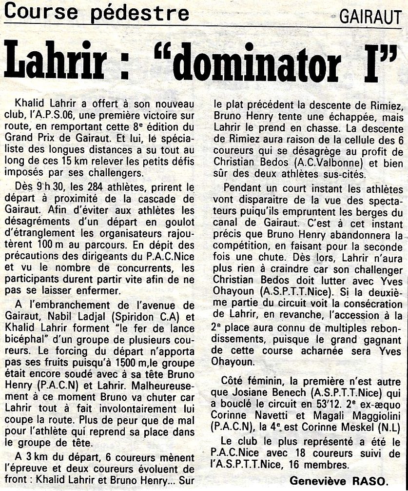 GRAND PRIX DE GAIRAUT 20;10;1991