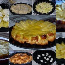 Gâteau - tarte pomme mascarpone