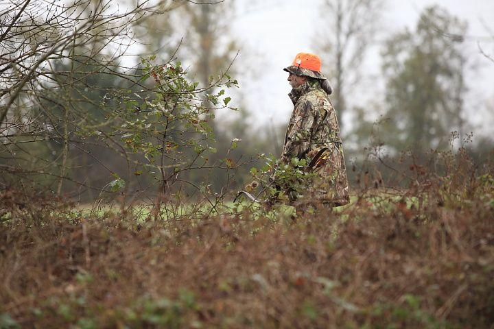 Partie de chasse à l'arc organisée par le club de chasse de Muret.