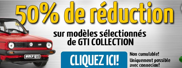 10 GTI Collection 1:43 en promotion à -50% sur Modelcarworld