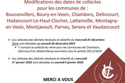 Modification des dates de collectes