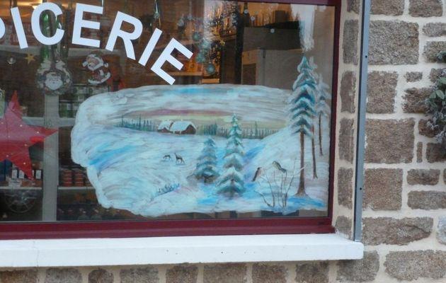 Peinture de Noël sur vitre, la suite.