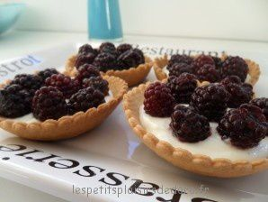 TARTELETTES MURES MASCARPONE ALLEGEES