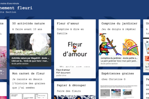 Padlet Un confinement fleuri
