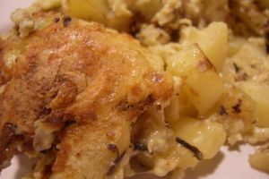 Omelette aux pommes de terre et Tomme de Savoie