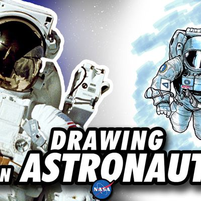 Drawing an ASTRONAUT in Space ! Speed Drawing ✏️ Comic Book Style ✏️ 👨🏼🚀