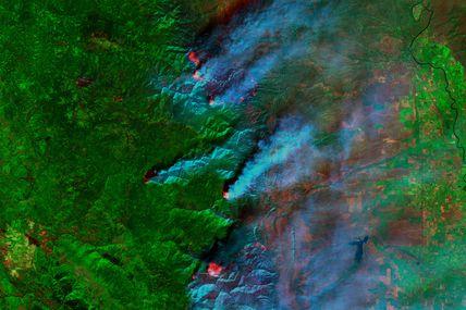 Août 2020: les incendies géants de Californie vus depuis l'espace