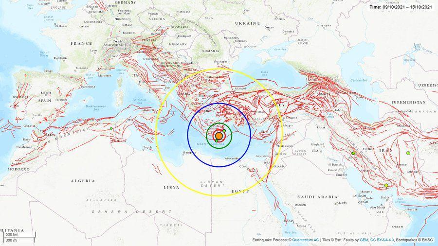 Grèce, Crète : Important séisme de 6.3 sur Richter