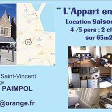 """PAIMPOL : """"L'Appart en Ville"""" location saisonnière à 30m du port et 800m de la plage"""