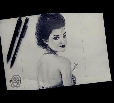 Speed drawing n°5 : Lucy Hale இ