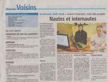 Nautes et Internautes, Le Courrier Indépendant à oser le faire !