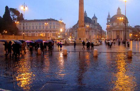 Roma sotto la pioggia ...