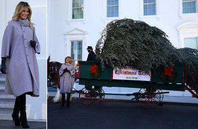 Melania Trump accueille pour la dernière fois l'arbre de Noël de la Maison Blanche (photos)