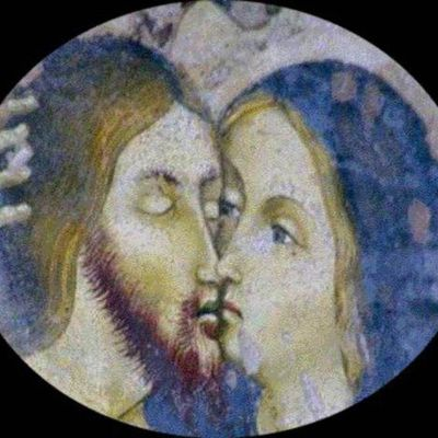 Jesus and Mary: The Kiss