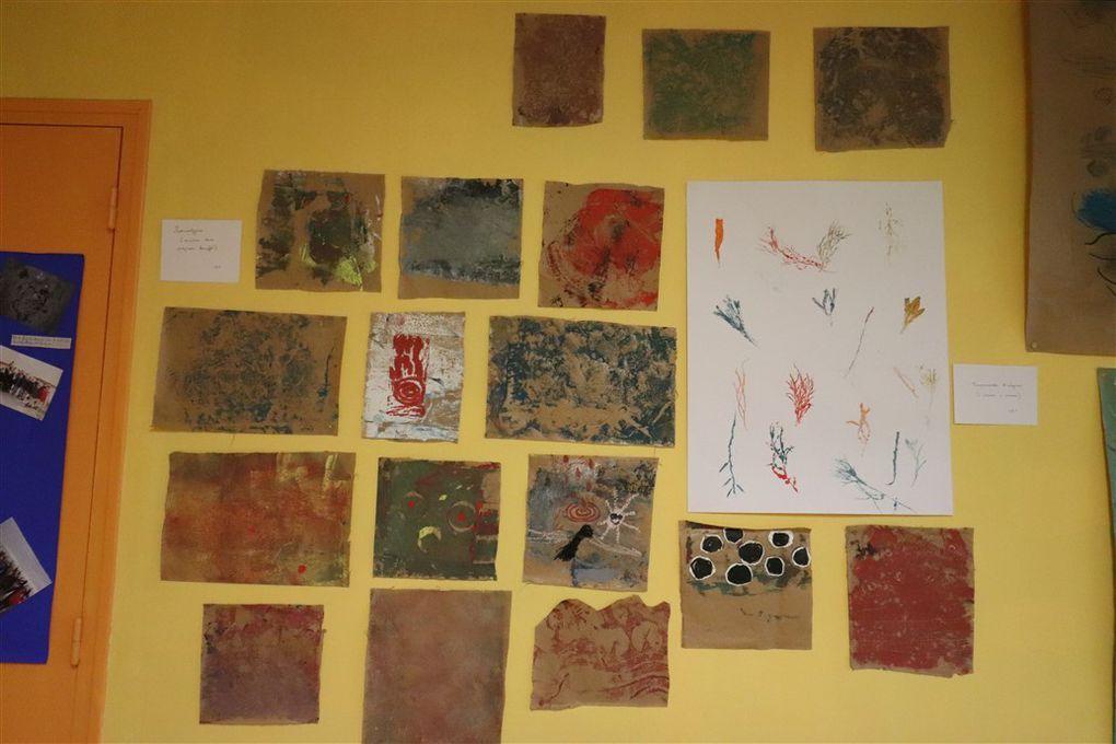 Exposition des oeuvres réalisées à l'Ile Tudy