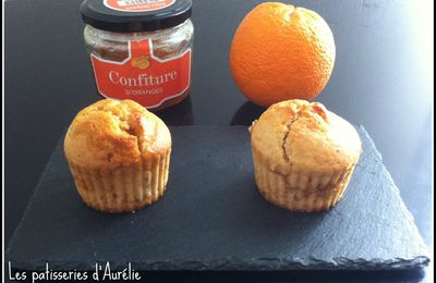 Muffins vanille coeur confiture d'orange