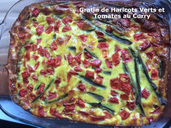 Gratin de Haricots Verts et Tomates au Curry