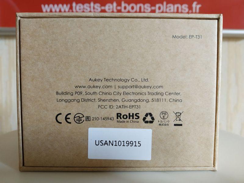 unboxing des écouteurs True Wireless (Bluetooth 5.0 + USB-C + charge Qi) - Aukey EP-T31 @ Tests et Bons Plans