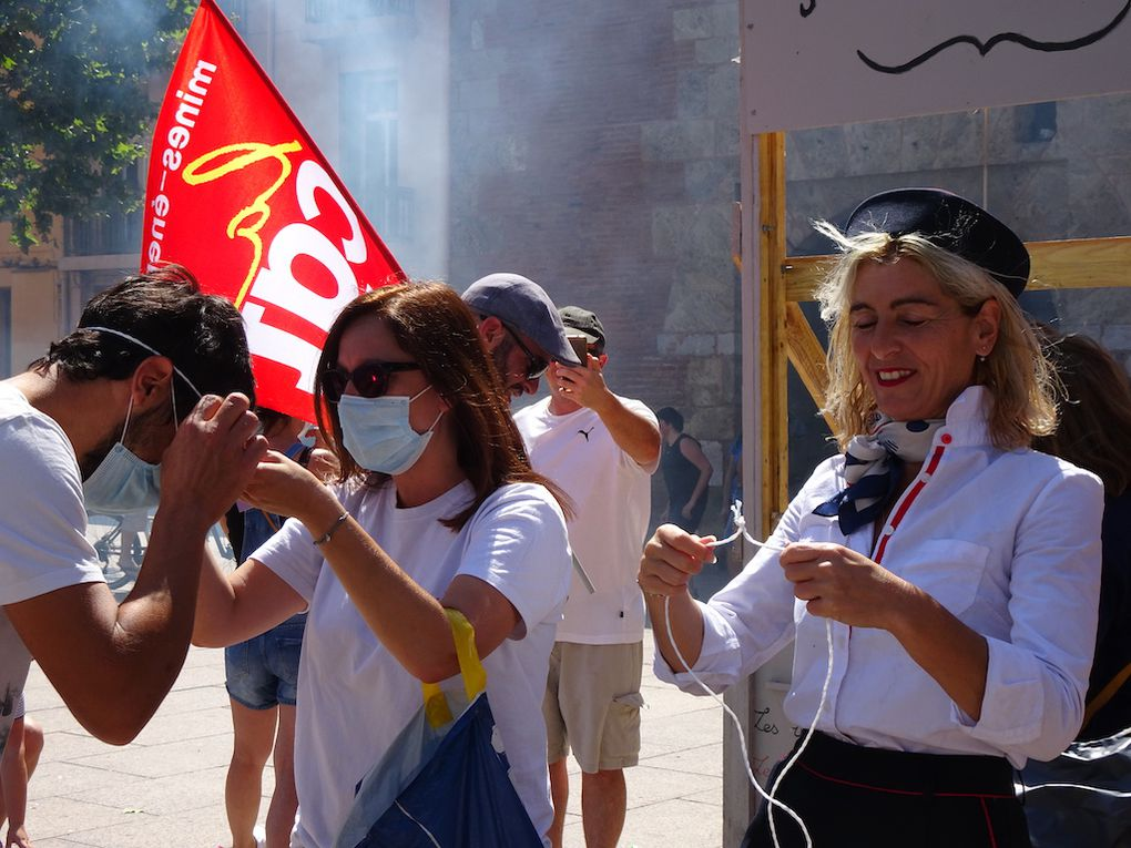 La prise du Castillet à Perpignan le 14 juillet 2020