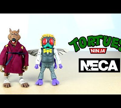 NECA Review TMNT Cartoon 1987: Splinter/Baxter