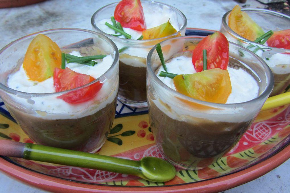 Verrines au caviar d'aubergine