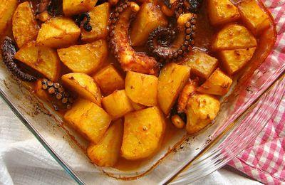 Une recette terre et mer ou presque : quand le poulpe rencontre la pomme de terre et ses aromates