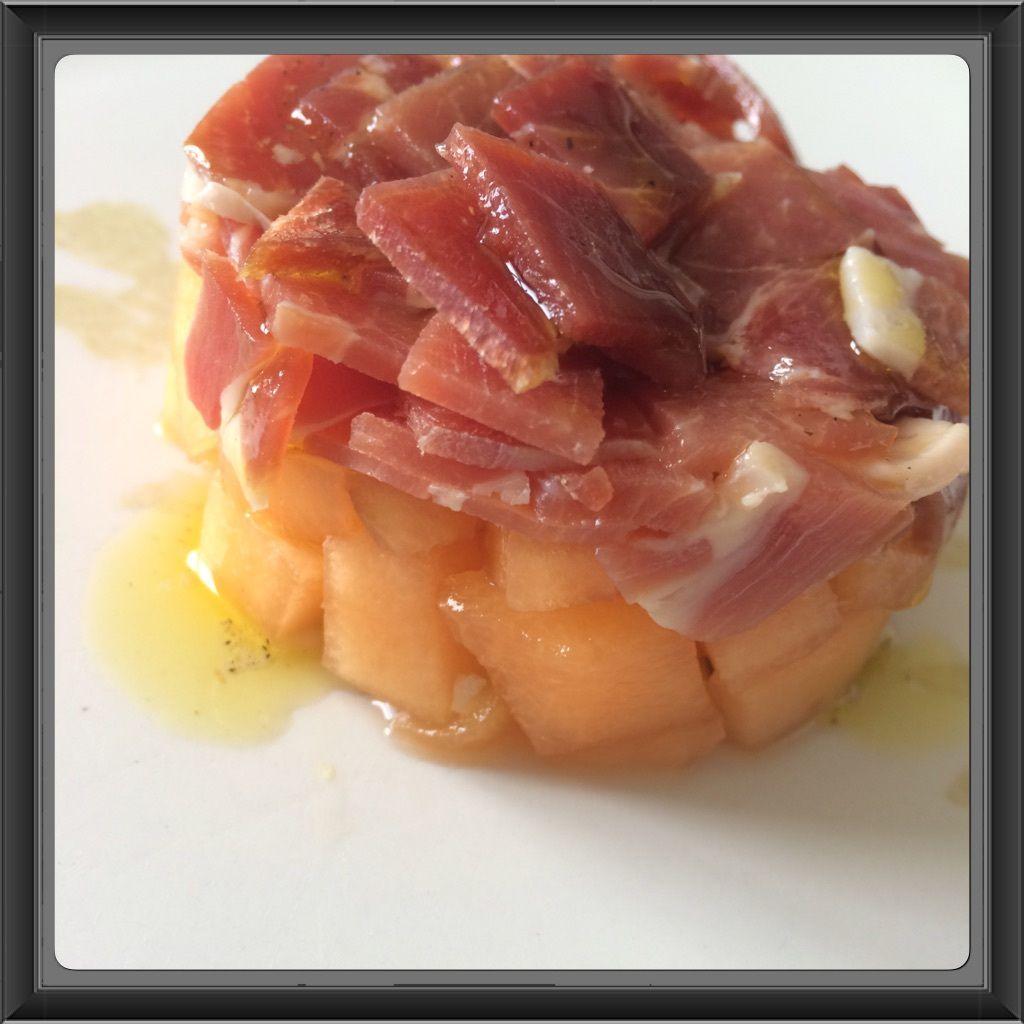 Tartare melon jambon