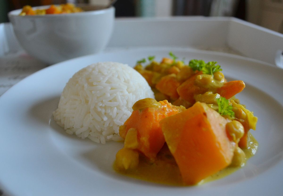 Colombo de butternut et pois chiche