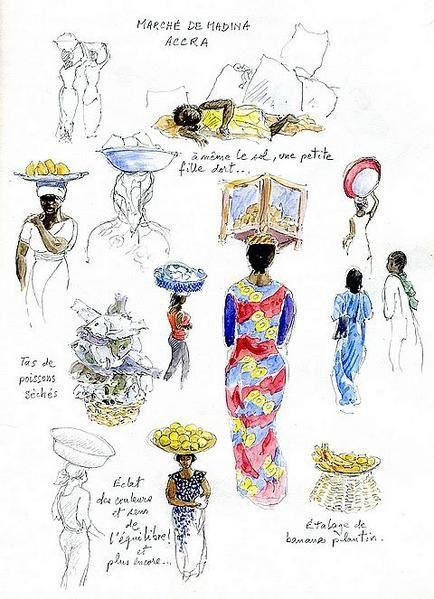 Album - femmes au marché africain