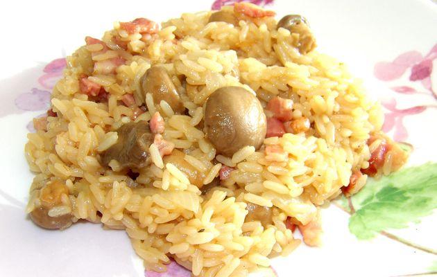 Riz Lardons Champignons (Cookeo)