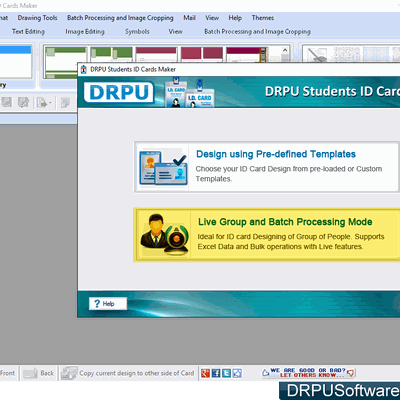 How to create ID cards for students and export as image using Student ID Cards