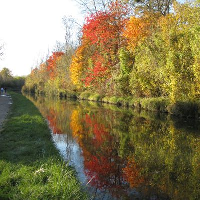 An Automn bike ride from Paris, along the Ourcq Canal.