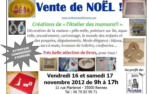 De magnifiques cadeaux pour Noël ? Les 16 et 17 novembre à Rennes.