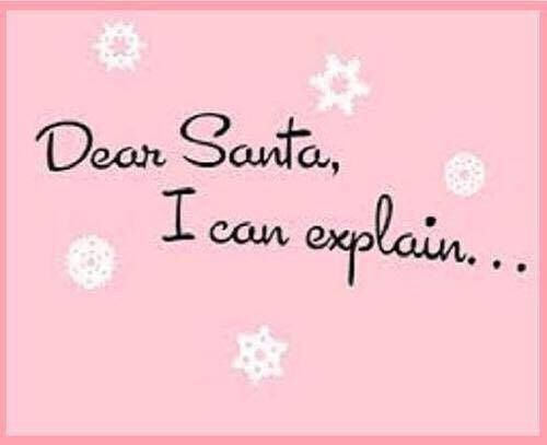 Dear Santa, I can explain...