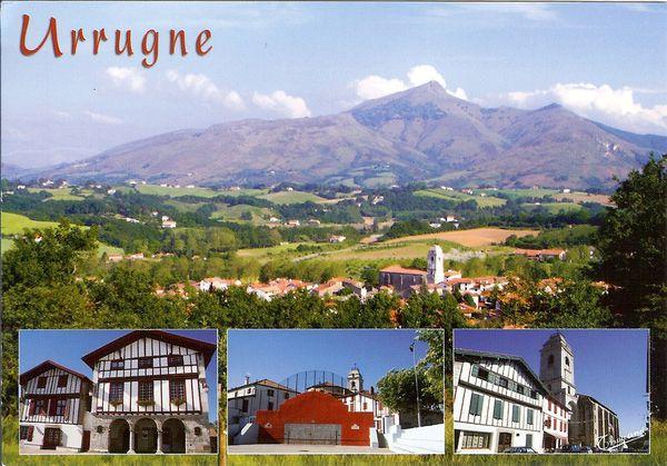 carte d'Urrugne et pays Basque
