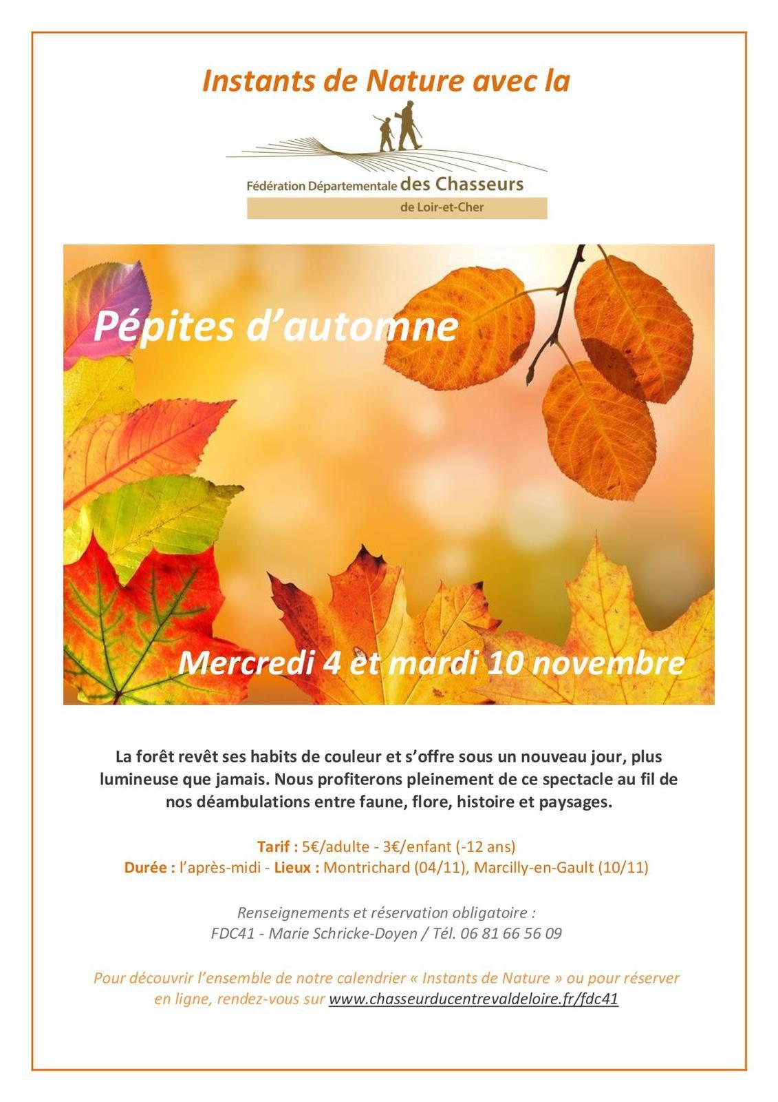 Instants de Nature - Programme d'automne