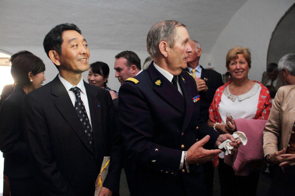 19 août 2013, visite de M. Masaya Fujiwara, ministre de l'Ambassade du Japon en France et d'une délégation de marins japonais. Photographies : Jean-Luc Le Bris et Jean-Jacques Tréguer
