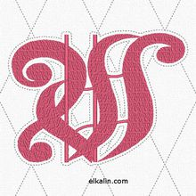 """ABC Alexandre 122: la lettre W quiltée, création """"ELKALIN.com""""."""