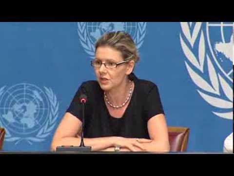 Cécile Pouilly, portavoz de la Oficina del Alto Comisionado de Naciones Unidas para los Derechos Humanos.- El Muni.