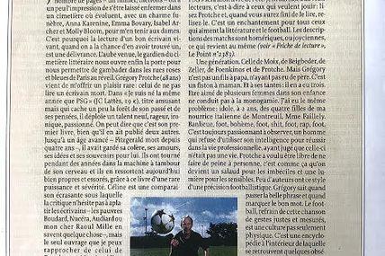 Pour Grégory Protche, par Patrick Besson (Je suis né la même année que PSG)