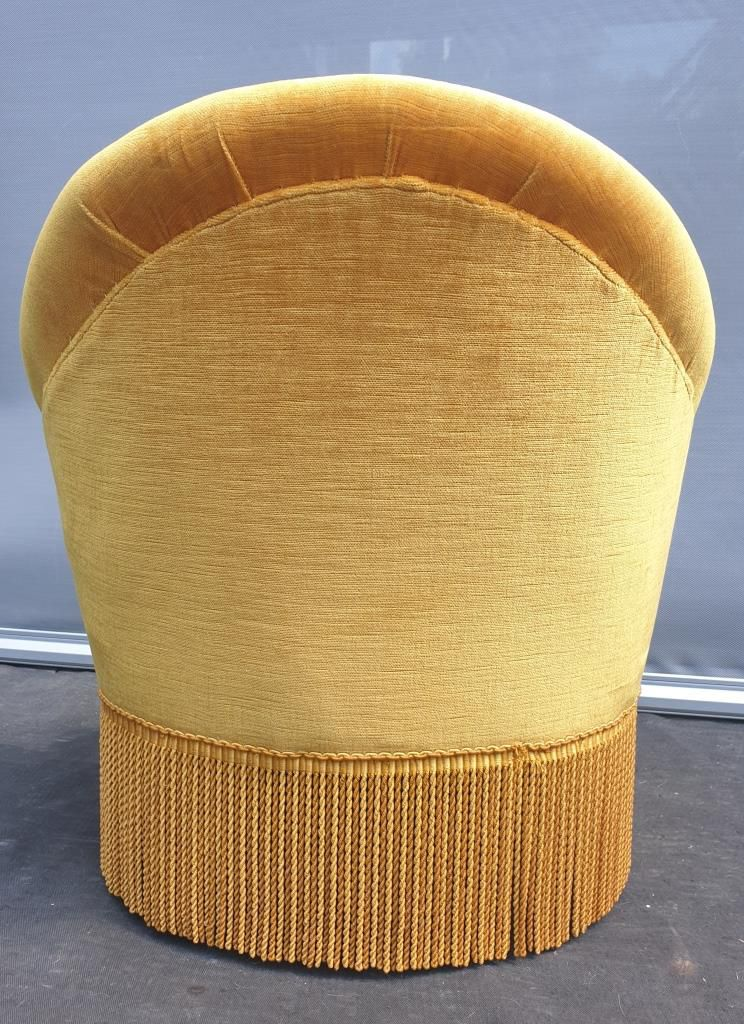 Fauteuil crapaud velours or - 70 euros