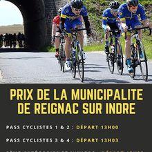 Le dimanche 02 août 2020 - Prix de la Municipalitéà Reignac sur Indre (37) en Pass'Cyclisme (2 départ) et Pass'Cyclisme 3,4 et J le 02 août 2020 + 3 ème catégorie et juniors - départ 15 h 30 - Organisation : UV Descartes - 170 coureurs ont rendez-vous à Reignac- (Dominique POIRIER - UV Descartes)